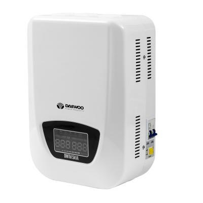Стабилизатор напряжения DAEWOO DW-TM5kVA 5кВт 140-270В 20мс кпд 95% защита от кз/помех 2х220В стабилизатор напряжения daewoo power products dw tzm10kva