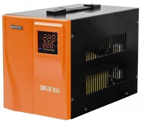 Стабилизатор напряжения DAEWOO DW-TZM1kVA 1кВт 140-270В 20мс кпд 95% защита от кз/помех 2х220В TZM10KVA цена