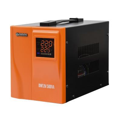 Стабилизатор напряжения DAEWOO DW-TZM500VA 500Вт 140-270В 20мс кпд 95% защита от кз/помех 1х220В стабилизатор daewoo dw tm1kva master line
