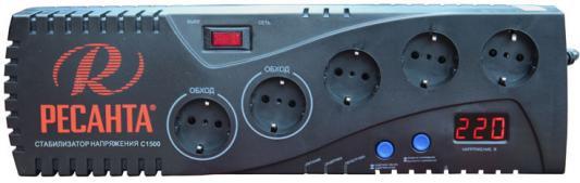 Стабилизатор напряжения Ресанта С1500 5 розеток стабилизатор напряжения ресанта с1500