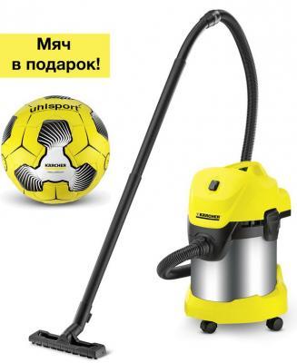 Пылесос KARCHER WD 3 Premium Car Football Edition 1000Вт 17л пылесос karcher puzzi 8 1 c 1 100 225