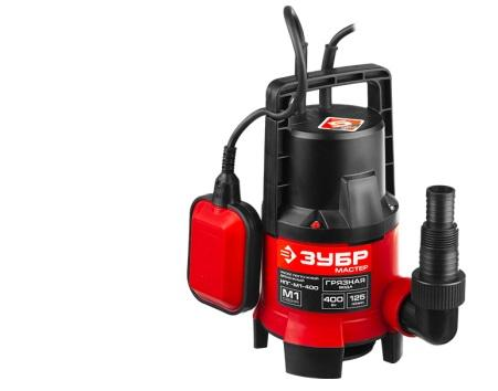 Насос ЗУБР НПГ-М1-400 мастер м1 погружной дренажный для грязной воды d частиц до 35мм 400Вт 125л/м насос погружной для грязной воды зубр знпг 400