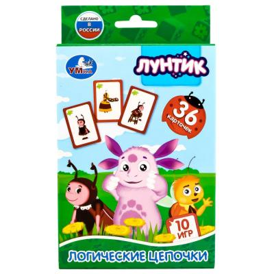 Развивающие карточки Умка Логические цепочки карточки развивающие умка лунтик логические цепочки 36 карточек в кор в кор 50шт