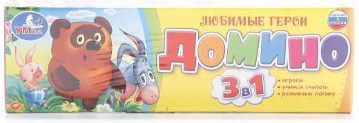 Настольная игра УМКА домино Винни-Пух