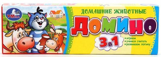 цена Настольная игра УМКА домино Простоквашино - Домашние животные