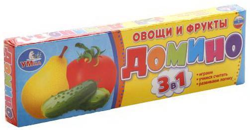 Настольная игра УМКА домино Овощи и фрукты 3-в-1 шлепанцы reserved