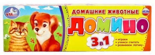 Настольная игра УМКА домино Домашние животные настольные игры dodo настольная игра домино животные