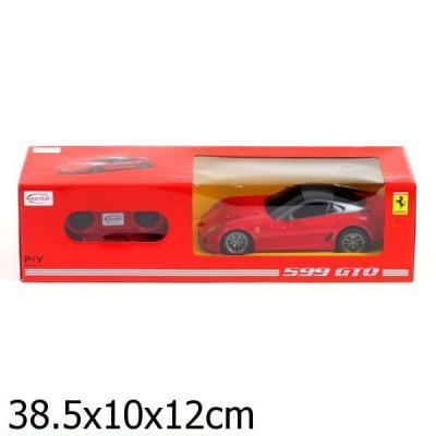 МАШИНА Р/У RASTAR FERRARI 599 GTO 1:24, ЦВЕТ В АССОРТ. В КОР. в кор.18шт машина детская rastar rastar машинка на радиоуправлении ferrari 599 gto 1 24 в ассортименте