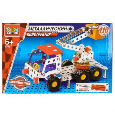 Металлический конструктор Город мастеров Подъёмник 110 элементов VV-1209-R игрушка drift подъёмник строительный 70396