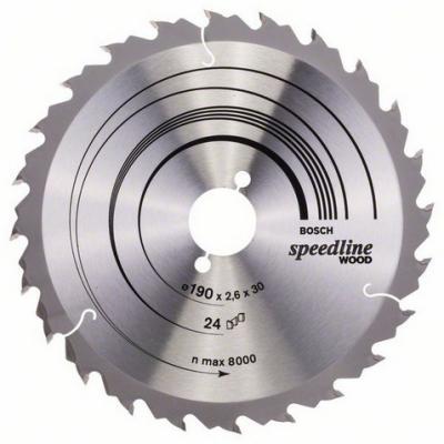 Диск пильный BOSCH Speedline Wood 190x12x30 (2.608.640.800) 190x12x30 цены