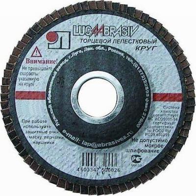 Лепестковый круг 150 Х 22 Р100 (№16) КЛТ тип 1 круг лепестковый 125х22 р100 16 luga