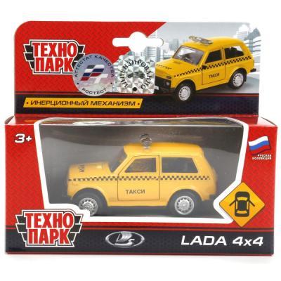 Инерционная машинка Технопарк ТАКСИ 1:50 желтый X600-H09012-R игрушка технопарк электрокар x600 h09225 r