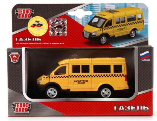 Инерционная машинка ТЕХНОПАРК Газель: Такси желтый машинка технопарк 180834 180834