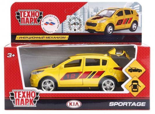Инерционная машинка ТЕХНОПАРК Kia Sportage желтый инерционная машинка технопарк skoda rapid такси желтый