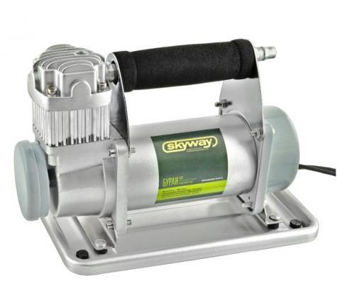 Компрессор SKYWAY БУРАН-10 металлический 60 л/мин с крокодилами компрессор skyway титан 04 s02001013