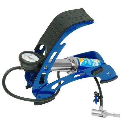 Насос KRAFT КТ 810001 ножной с манометром 1 цилиндр с супер сумкой цена