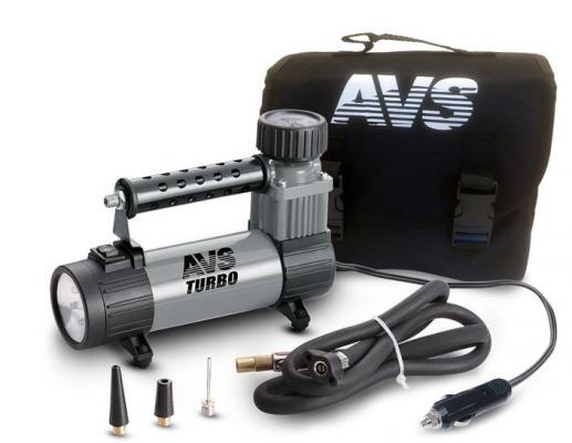 Компрессор автомобильный Turbo AVS KS 350 L 150Вт 12В 14А 35л/мин 10Атм автомобильный компрессор аллигатор al 350