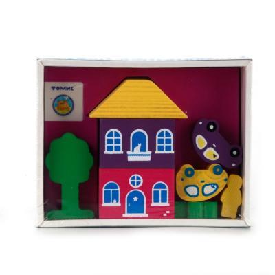 Конструктор Томик Цветной городок 8 элементов деревянные игрушки томик конструктор цветной городок синий 14 деталей