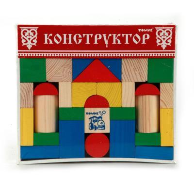 Купить КОНСТРУКТОР ЦВЕТНОЙ 43ДЕТ. в кор.12шт, Томик, Пластмассовые конструкторы