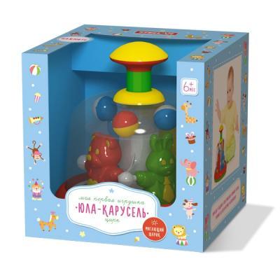 ЮЛА-КАРУСЕЛЬ ЦИРК в кор.4шт развивающие игрушки стеллар юла карусель с шариками