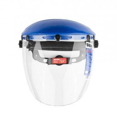 Маска ЗУБР 11085  защитная лицевая мастер пластик оголовье разборн конструкц 2мм 400х200мм
