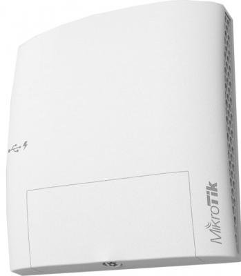 Точка доступа MikroTik wsAP ac lite 802.11aс 2.4 ГГц 5 ГГц 3xLAN USB белый RBwsAP-5Hac2nD беспроводная точка доступа mikrotik rbmapl 2nd map lite with 650mhz cpu 64mb ram 1xlan built in dual chain 2 4ghz 802 11bgn dual chain wireless with integrated