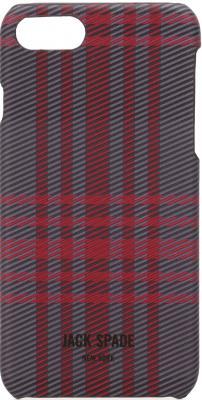Накладка Jack Spade Snap Case для iPhone 7 iPhone 8 серый красный JSIPH-024-HOLP snap case
