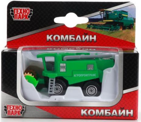 Купить Комбайн Технопарк Комбайн зеленый в ассортименте, ТЕХНОПАРК, Детские модели машинок
