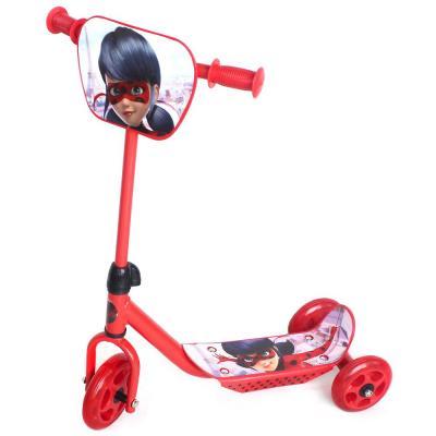Купить Самокат Next ЛЕДИ БАГ 145/120 мм красный 006LBG, Трехколесные самокаты для детей