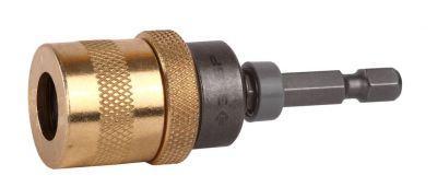 Адаптер ЗУБР ЭКСПЕРТ 26753-60 магнитный для бит фиксатор ограничитель глубины вворачивания 60мм адаптер магнитный для бит зубр эксперт фиксатор держатель для направления биты 60мм