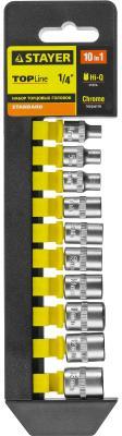 Набор головок STAYER 27758-H10 standard: 1/4 на пластиковом рельсе 4-13мм 10 предметов khw snow tiger comfort seat для санок tiger и tiger de luxe anthrazit