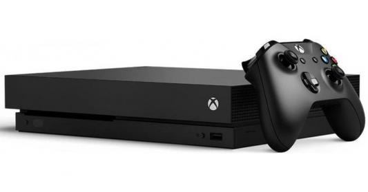 Игровая консоль Xbox One X с 1 ТБ памяти зеркало с фацетом в багетной раме поворотное evoform exclusive 53x83 см прованс с плетением 70 мм by 3407