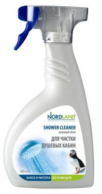 NORDLAND Спрей активный для чистки душевых кабин 500мл бытовая хими�� nordland активный спрей для чистки кухни 500 мл