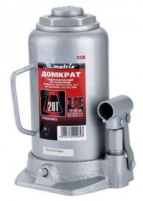 домкрат matrix 510675 Домкрат MATRIX 50731 бутылочный 20т h подъема 242–452мм