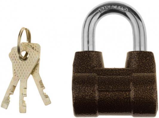 Замок ЗУБР МАСТЕР 3720-4_z01 навесной облегченный диск.механизм секрета ключ 7PIN дужка d-10мм 60м