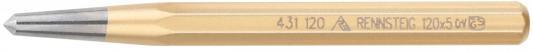 Кернер RENNSTEIG RE-4311200 120x10x5 шлифованная и полированная поверхность зубило rennsteig re 4210000 зубила 125мм 150мм пробойники 3мм 4мм кернер 4мм в наборе 6шт