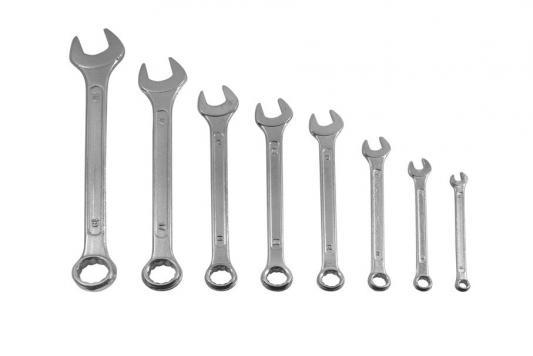 Набор комбинированных ключей FIT 63424 (8 - 19 мм) 8 шт. набор комбинированных гаечных ключей 8 шт aist 0010208a 8 19 мм