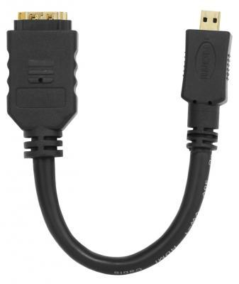 Кабель HDMI 0.15м CBR CB 235 круглый черный