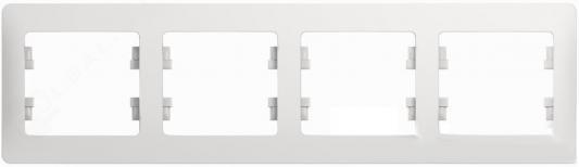 Рамка SCHNEIDER ELECTRIC GSL000104 Glossa 4-м горизонт. бел. рамка schneider electric gsl000103 glossa 3 м горизонт бел