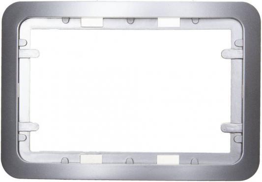 Рамка СВЕТОЗАР SV-54145-2-SM гамма накладная для двойных розеток светло-серый металлик 1 гнезд