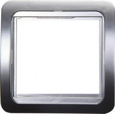 Рамка СВЕТОЗАР SV-54145-SM гамма накладная светло-серый металлик 1 гнездо