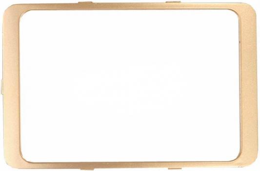 Рамка СВЕТОЗАР SV-54175-GM гамма декоративная золотой металлик двойная звонок электрический с кнопкой светозар аккорд 58036