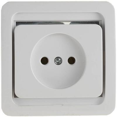 Розетка СВЕТОЗАР SV-54100-W гамма одинарная белый 16А/~250в звонок электрический с кнопкой светозар аккорд 58036