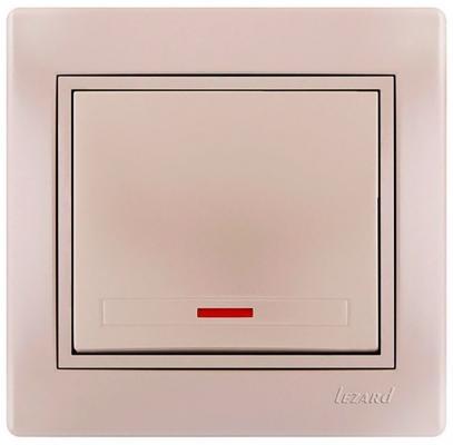 Выключатель LEZARD 702-0303-111 подсветка серия скр.проводки Дери кремовый