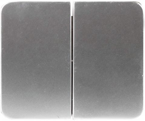 Выключатель СВЕТОЗАР SV-54134-SM гамма 2кл. 10А 250В без вставки и рамки светло-серый металлик звонок электрический с кнопкой светозар аккорд 58036
