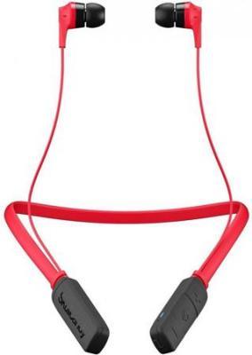Наушники (гарнитура) Skullcandy INK'D 2.0 Wireless Red Беспроводная / Вставная с микрофоном / Красный-черный / до 7 ч / Bluetooth наушники с микрофоном skullcandy inkd mic black red