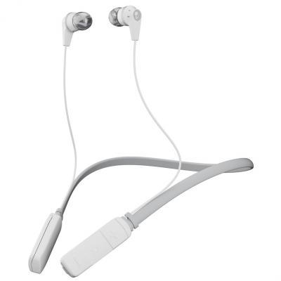 Наушники (гарнитура) Skullcandy INK'D 2.0 WIRELESS WHITE/GRAY/GRAY Беспроводные / Внутриканальные / Белый-серый / 20 Гц - 20 кГц / Двухстороннее / До 8 ч / Bluetooth гарнитура skullcandy method wireless беспроводные внутриканальные с микрофоном черный серый 20 гц 20 кгц до 9 ч bluetooth