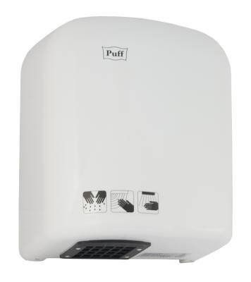 Электросушитель для рук PUFF 165 1.65кВт белый ABS пластик