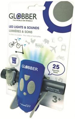 Звонок-фонарик Globber Mini Hornit синий 525-100 электронный сигнал globber mini hornet зеленый