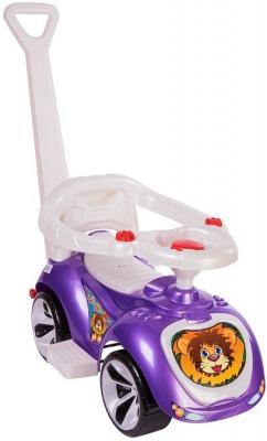 Каталка-машинка RT Мишка (LAPA) фиолетовый от 10 месяцев пластик